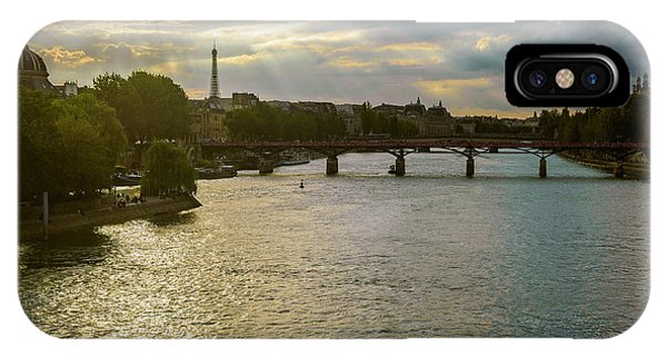 River Seine At Dusk IPhone Case