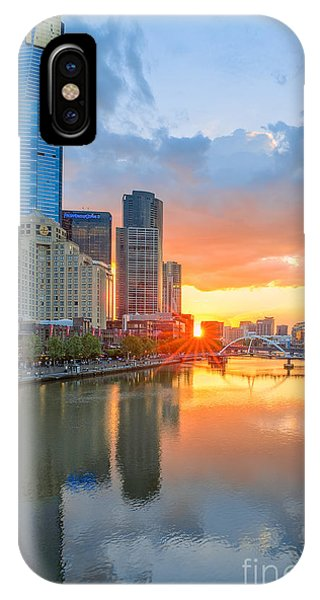 IPhone Case featuring the photograph River Sunset by Ray Warren
