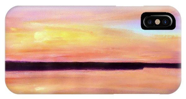 IPhone Case featuring the painting River Sunset by Valerie Anne Kelly