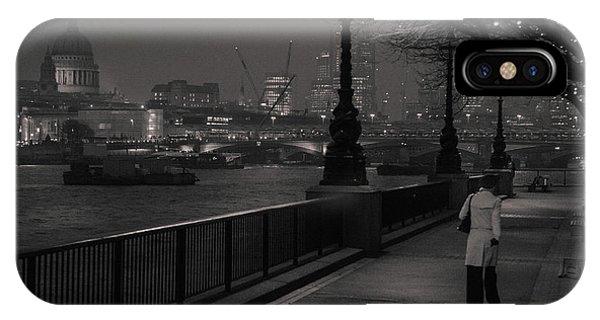 River Thames Embankment, London IPhone Case