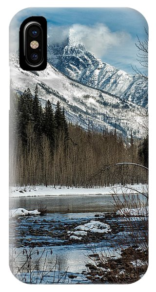 River To Peaks Glacier National Park IPhone Case