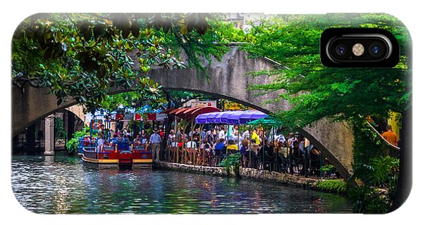 River Walk Dining IPhone Case