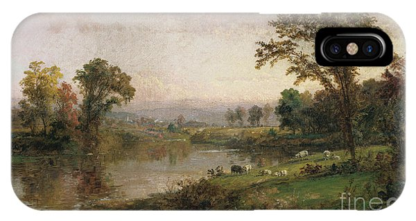 Rural America iPhone Case - Riverscape In Early Autumn by Jasper Francis Cropsey