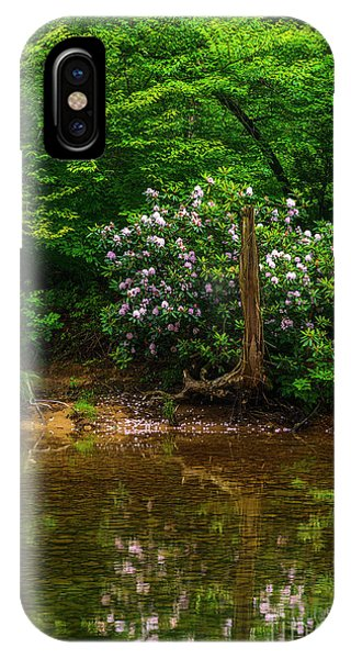 iPhone Case - Riverside Rhododendron by Thomas R Fletcher