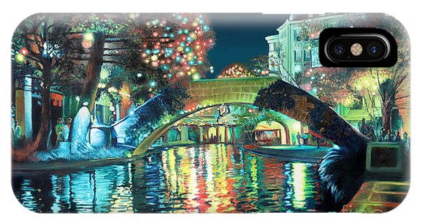 Downtown iPhone Case - Riverwalk by Baron Dixon