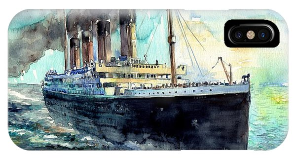 People iPhone Case - Rms Titanic White Star Line Ship by Suzann's Art