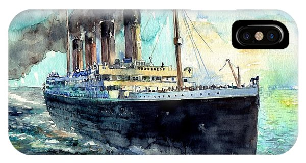 Maritime iPhone Case - Rms Titanic White Star Line Ship by Suzann Sines