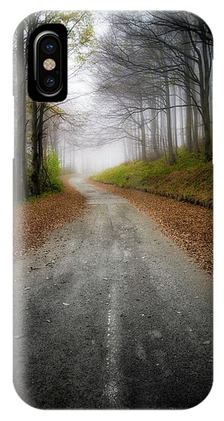 Road In The Fog IPhone Case