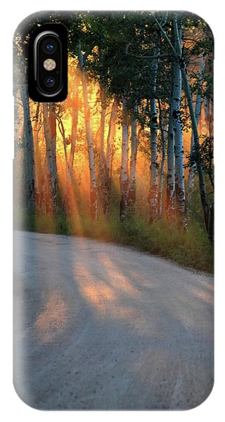 IPhone Case featuring the photograph Road Rays by Shane Bechler