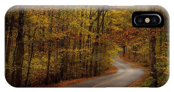 Road Through Tishomingo State Park IPhone Case