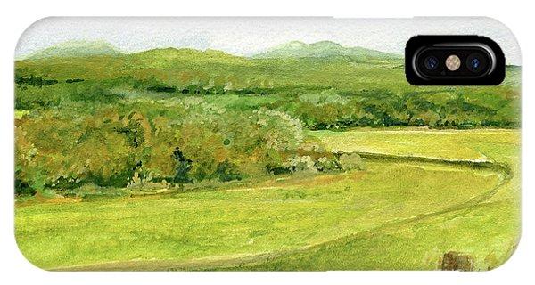 Road Through Vermont Field IPhone Case