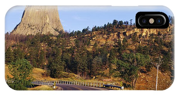 Road To Devils Tower Crossing Belle Fourche River Phone Case by Jeremy Woodhouse