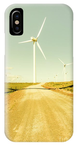 Technology iPhone Case - Road To Green Farming by Jorgo Photography - Wall Art Gallery