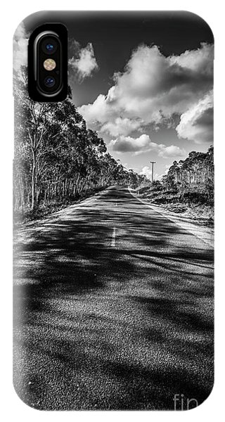 Gloomy iPhone Case - Road To Rossarden by Jorgo Photography - Wall Art Gallery