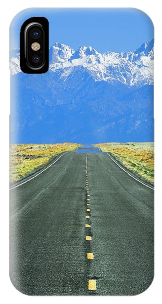Sangre De Cristo iPhone Case - Road To The Sangre De Cristo Mountains by Aaron Spong