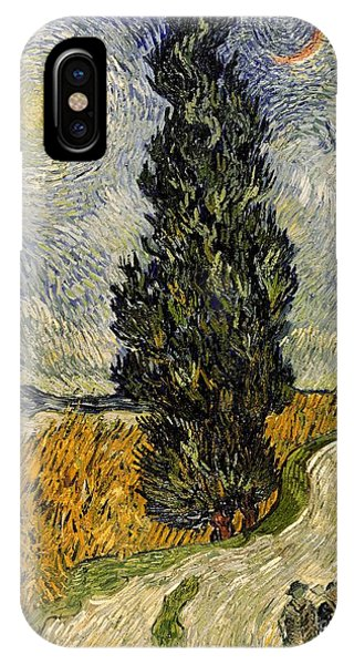 Cart iPhone Case - Road With Cypresses by Vincent Van Gogh