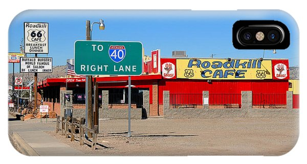 Roadkill Cafe, Route 66, Seligman Arizona IPhone Case