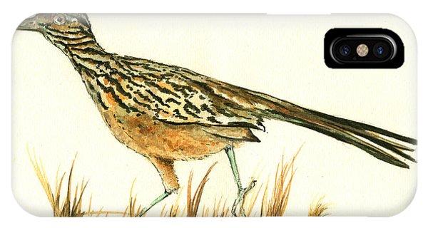 Roadrunner Bird IPhone Case