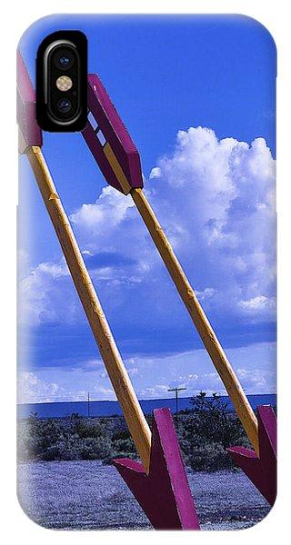 Timeworn iPhone Case - Roadside Arrows by Garry Gay