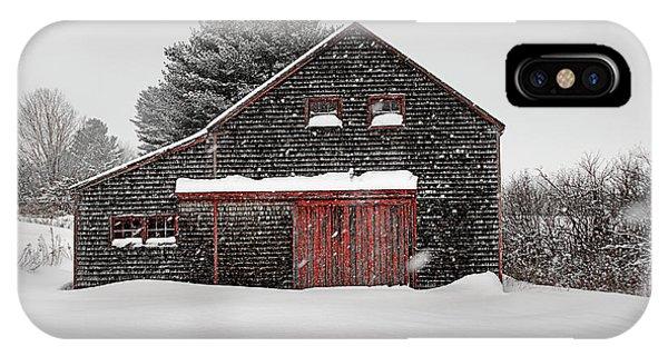 New England Barn iPhone Case - Roadside Barn In The Storm by Dan Jordan