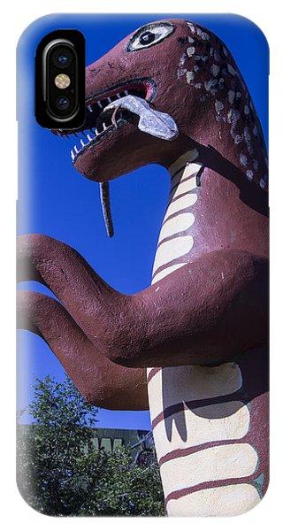 Timeworn iPhone Case - Roadside Dinosaur by Garry Gay