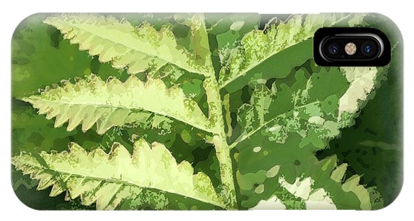 Roadside Fern, Abstract 2 - IPhone Case