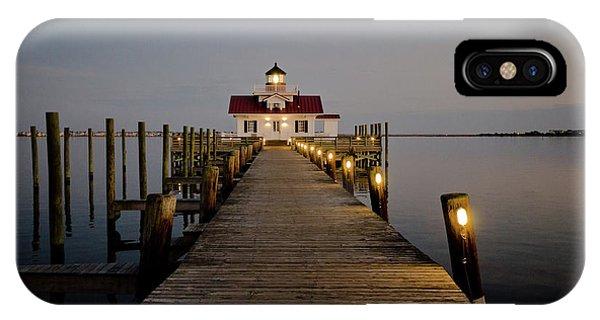 Roanoke Marshes Lighthouse IPhone Case