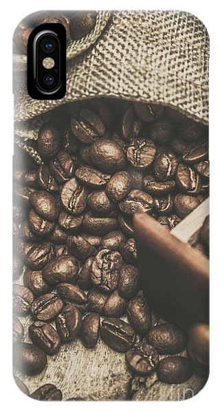 Close-up iPhone Case - Roasted Coffee Beans In Close-up  by Jorgo Photography - Wall Art Gallery
