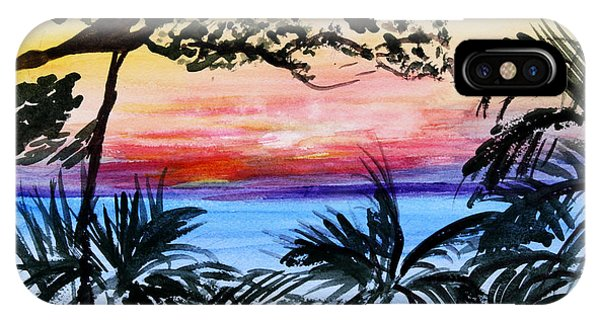Roatan Sunset IPhone Case
