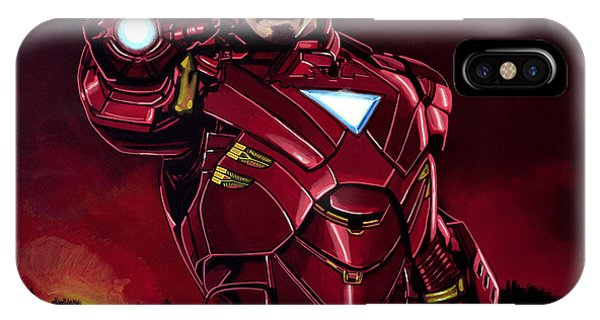 Cold iPhone Case - Robert Downey Jr. As Iron Man  by Paul Meijering