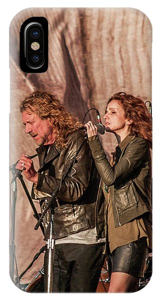 iPhone Case - Robert Plant And Patty Griffin by Bill Gallagher