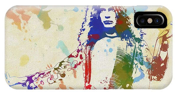 Rock And Roll Jimmy Page iPhone Case - Robert Plant by Dan Sproul