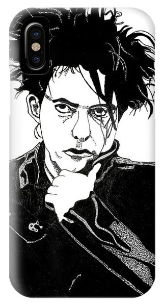 Robert Smith Music iPhone Case - Robert Smith 1 by Christine Perry