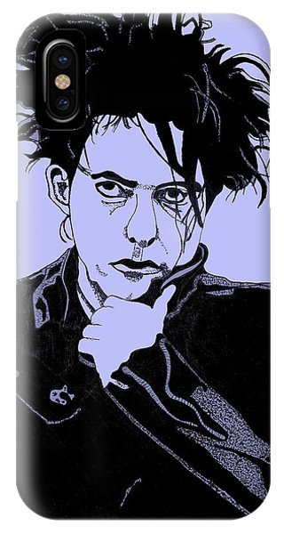 Robert Smith Music iPhone Case - Robert Smith 2 by Christine Perry