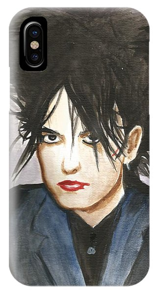 Robert Smith Music iPhone Case - Robert Smith by Amber Stanford