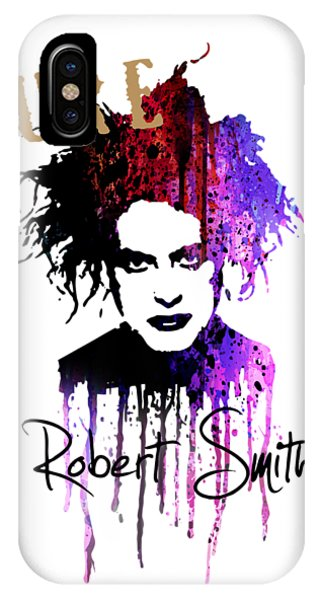 Robert Smith Music iPhone Case - Robert Smith by Art Popop