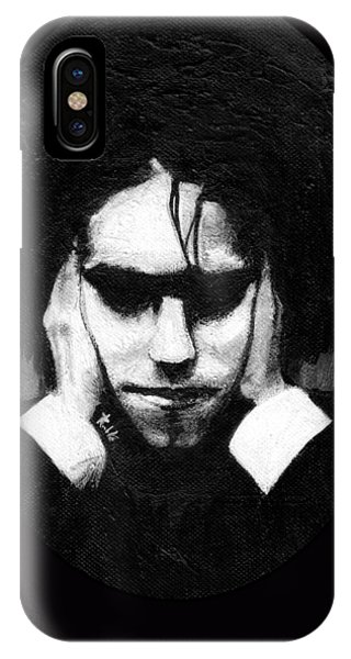 Robert Smith Music iPhone Case - Robert Smith by Rouble Rust