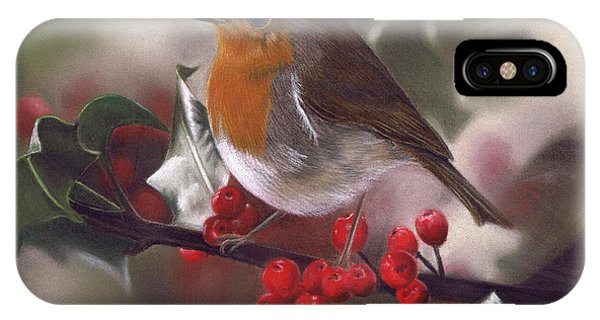 Robin And Berries IPhone Case