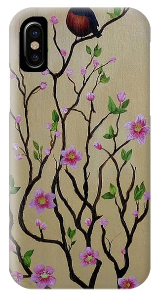 Robin And Spring Blossoms IPhone Case