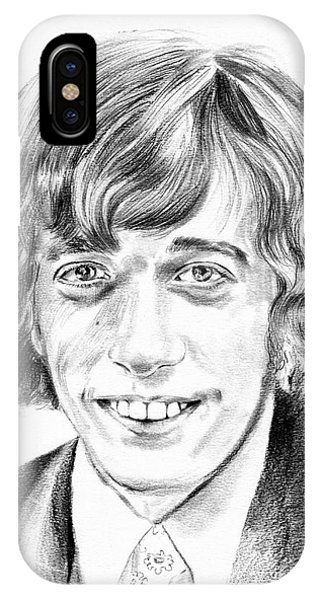 Palace iPhone X Case - Robin Gibb Drawing by Suzann Sines