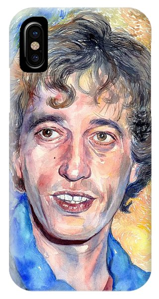 Bee iPhone X Case - Robin Gibb Portrait by Suzann Sines