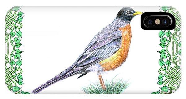 Robin In Spring IPhone Case