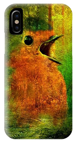 Robin In The Forest IPhone Case