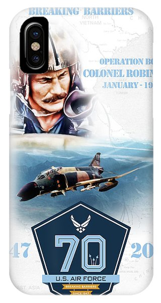 Tribute iPhone Case - Robin Olds Breaking Barriers by Peter Chilelli
