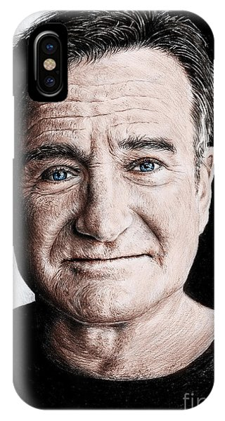 Robin Williams Comedian iPhone Case - Robin Williams Colour Edit by Andrew Read