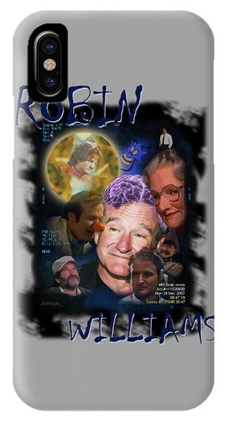 Robin Williams Comedian iPhone Case - Robin Williams by Joseph Juvenal