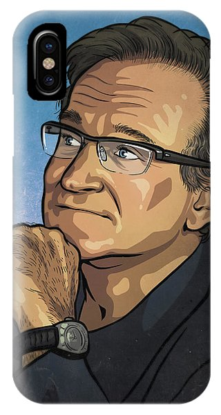 Robin Williams Comedian iPhone Case - Robin Williams by Miggs The Artist
