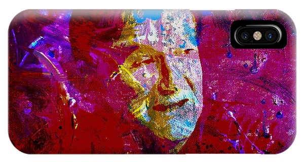 Robin Williams Comedian iPhone Case - Robin Williams Paint Splatter by Brian Reaves