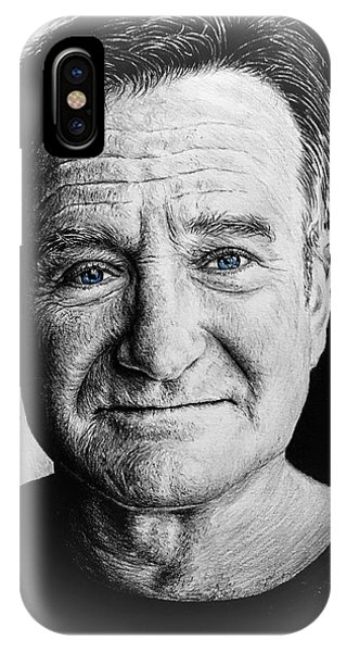 Robin Williams Comedian iPhone Case - Robin Williams Reflections by Andrew Read