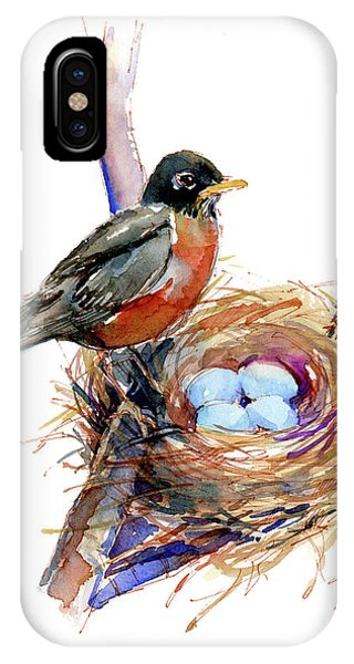 Robin With Nest IPhone Case